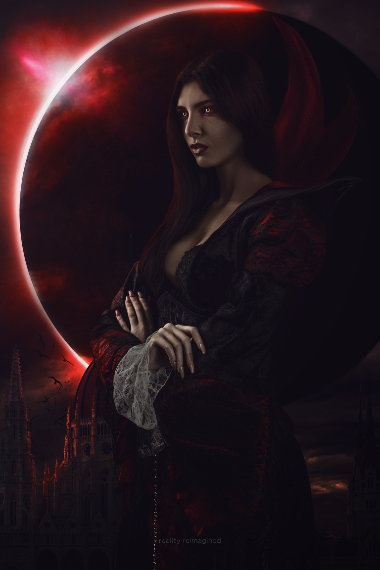 vampire photomanipulation art by reality reimagined